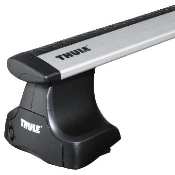 Dachträger Thule WingBar für Nissan Micra 10.2010 - 02.2017 Aluminium
