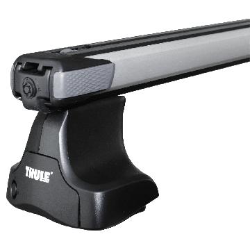 Dachträger Thule SlideBar für Rover 45 Fliessheck 02.2000 - jetzt Aluminium