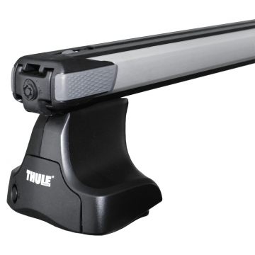 Dachträger Thule SlideBar für Nissan Almera Fliessheck 03.2000 - jetzt Aluminium