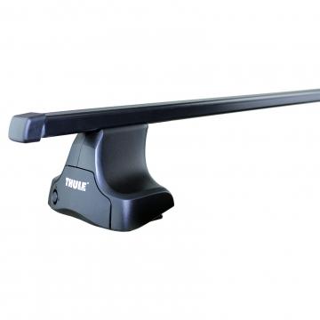 Dachträger Thule SquareBar für Daewoo Lanos Stufenheck 1997 - 2003 Stahl