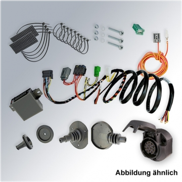 Komplettsatz: AHK und 13 pol. E-Satz für Saab 9/5 Kombi ( 10.1998 - 08.2010 ) inkl. Einbau