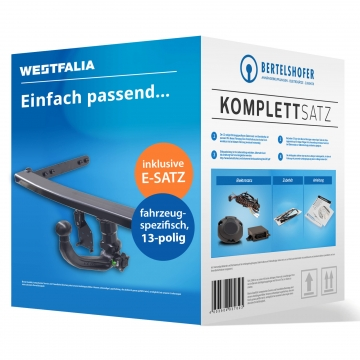 Komplettsatz: AHK und 13 pol. E-Satz für VW Phaeton ( 11.2008 - jetzt ) inkl. Einbau