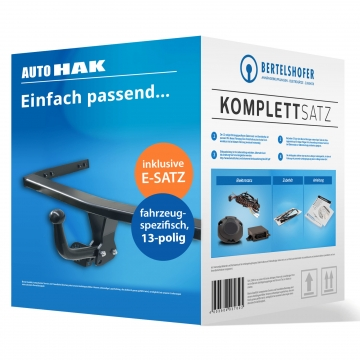 Komplettsatz: AHK und 13 pol. E-Satz für Opel Kadett Fliessheck ( 08.1984 - 08.1991 ) inkl. Einbau