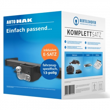 Komplettsatz: AHK und 13 pol. E-Satz für Nissan NV 400 ( 04.2010 - jetzt ) inkl. Einbau
