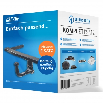 Komplettsatz: AHK und 13 pol. E-Satz für Audi A1 Sportback ( 03.2012 - jetzt )