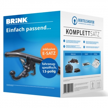 Komplettsatz: AHK und 13 pol. E-Satz für Fiat Fiorino Kasten ( 02.2008 - jetzt )
