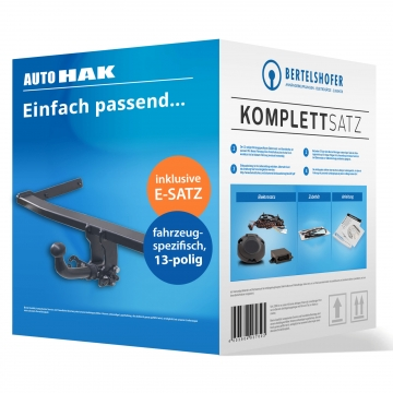 Komplettsatz: AHK und 13 pol. E-Satz für Kia Rio Fliessheck ( 10.2009 - 05.2011 ) inkl. Einbau
