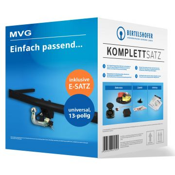 Komplettsatz: AHK und 13 pol. E-Satz für Mazda 6 Kombi (08.2002 - 04.2005) inkl. Einbau