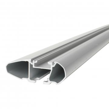 Dachträger Thule WingBar für Fiat Stilo Multiwagon (Kombi) 01.2003 - jetzt Aluminium