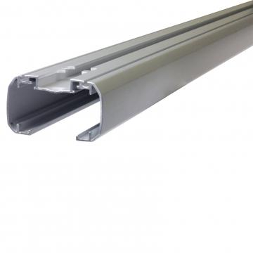 Dachträger Thule SlideBar für Lada 1119 Kalina Fliessheck 10.2004 - jetzt Aluminium