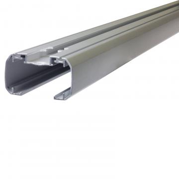 Dachträger Thule SlideBar für Peugeot 208 Fliessheck 03.2012 - jetzt Aluminium