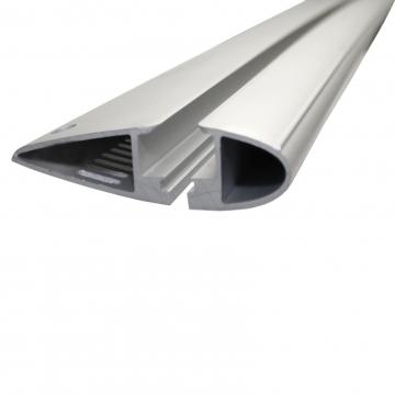 Dachträger Yakima Flush für Peugeot 208 Fliessheck 03.2012 - jetzt Aluminium