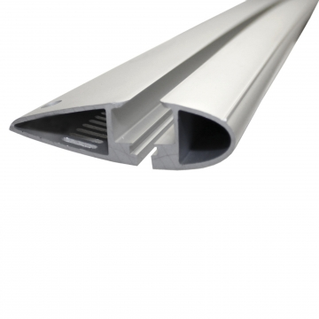Dachträger Yakima Through für Peugeot 208 Fliessheck 03.2012 - jetzt Aluminium