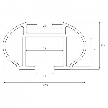 Dachträger Menabo Tiger für Suzuki SX4 Fliessheck 10.2013 - jetzt Aluminium