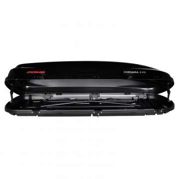 Dachbox Kamei Corvara S 475 schwarz glänzend