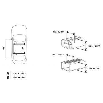 Dachbox Junior Easy 420 schwarz matt